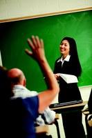 Classroom - raised hand